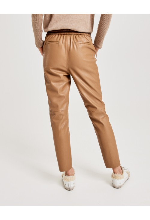 Opus Leather Look Trousers