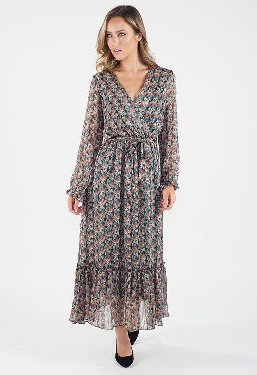 Pamela Scott Green Paisley Dress