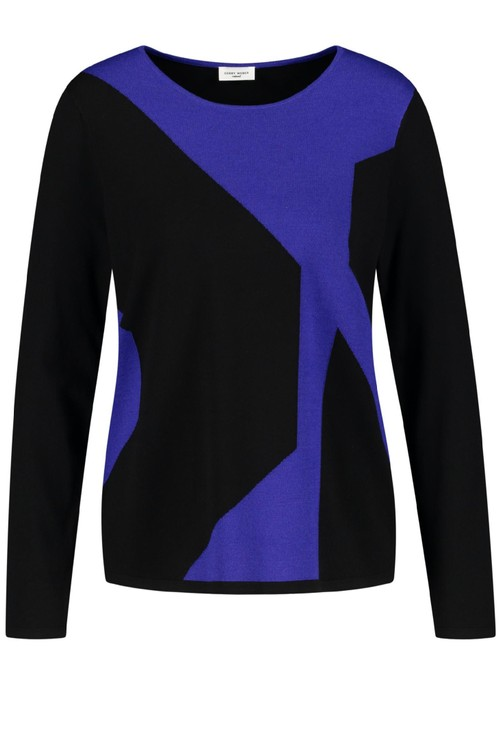 Gerry Weber Jumper with Graphic Colour Blocking