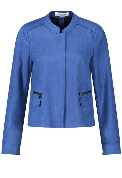 Gerry Weber Blue Faux Suede Jacket