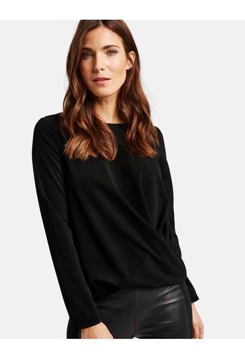 Gerry Weber Long sleeve top with side gathering