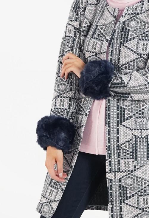 Pamela Scott Marine Faux Fur Cuff