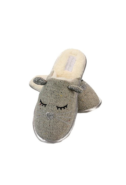 Something Special Tweed Mouse Slippers