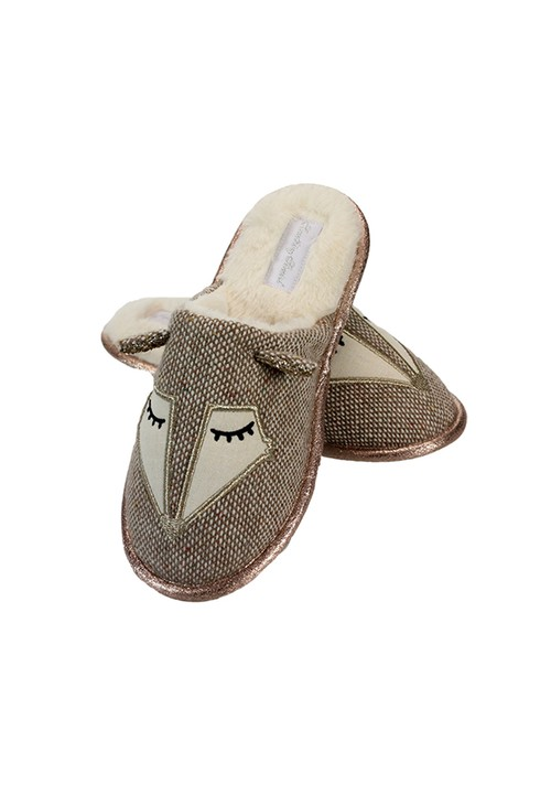 Something Special Tweed Fox Slippers