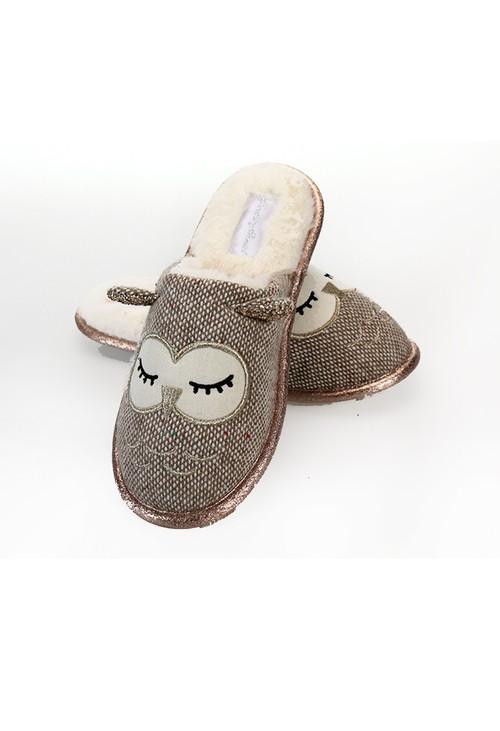 Something Special Tweed Owl Slippers