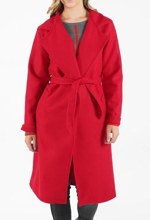 Zapara Red Longline Coat