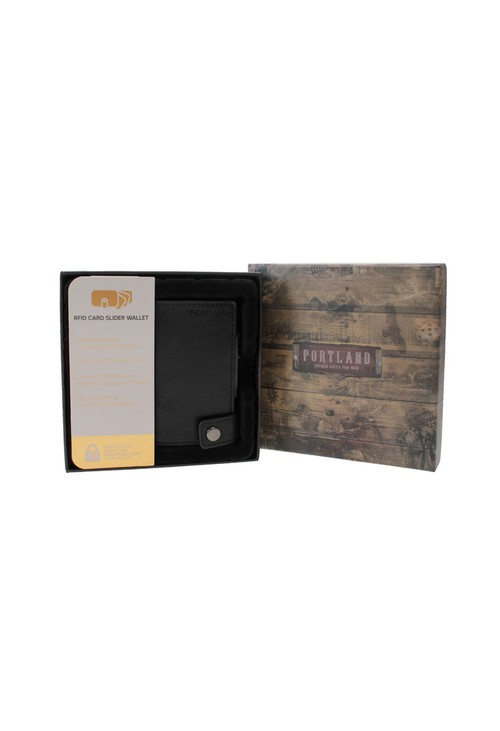 Something Special Black RFID Protected Card Slider Wallet