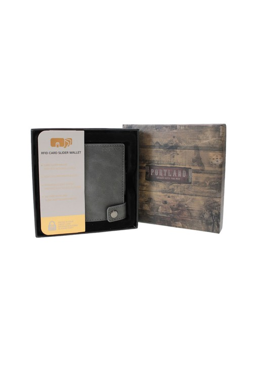 Something Special Grey RFID Protected Card Slider Wallet