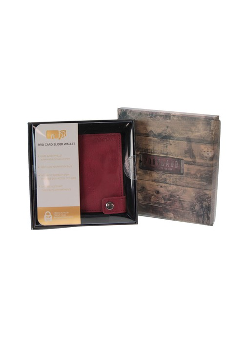 Something Special Burgundy RFID Protected Card Slider Wallet