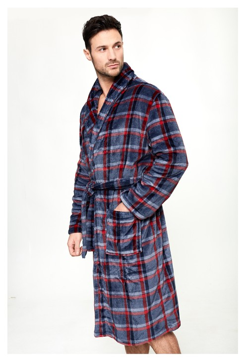 Something Special Navy/Red Check Dressing Gown