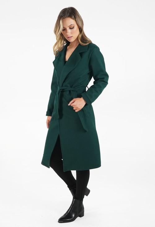 Zapara Green Longline Coat