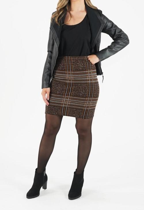 Zapara Black Jacquard Skirt