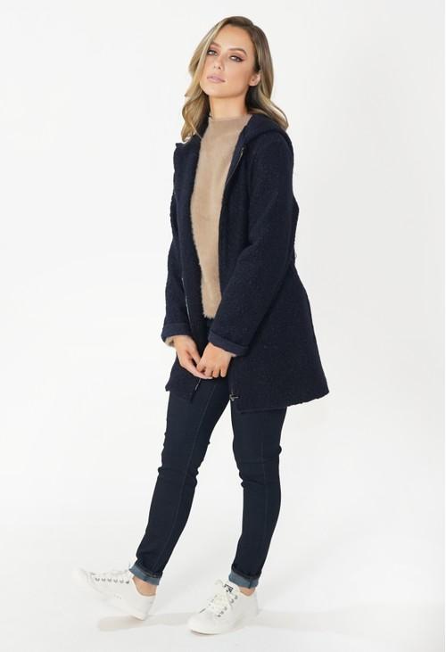 Twist Navy Cozy Hooded Jacket