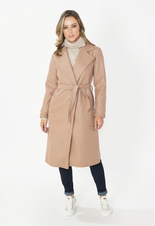 Zapara Camel Longline Coat
