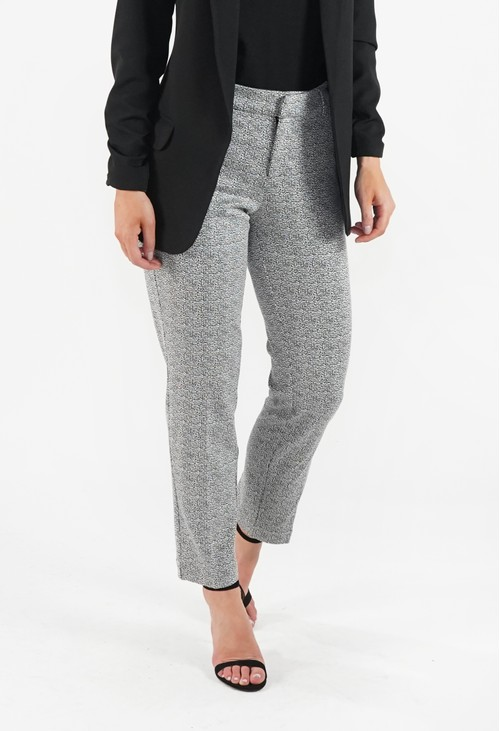 Liverpool Black White Abstract Trousers