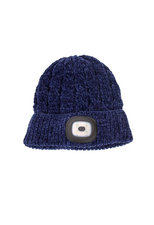 Something Special Navy Chenille LED Hat