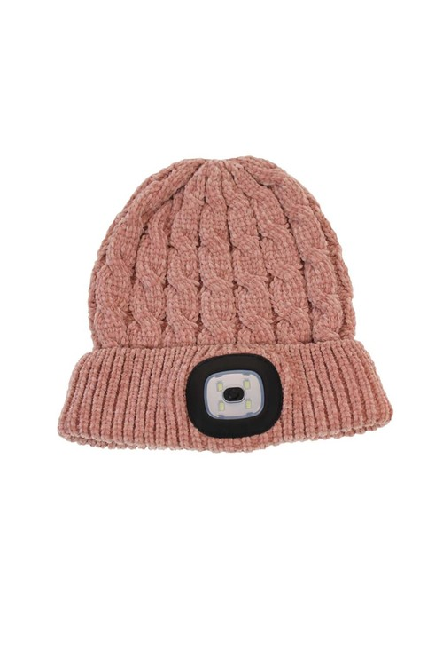 Something Special Pink Chenille LED Hat