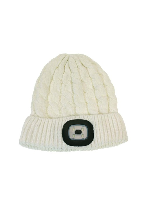 Something Special Off White Chenille LED Hat