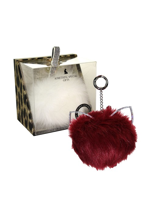 Something Special Wine Pom Pom Key Chain