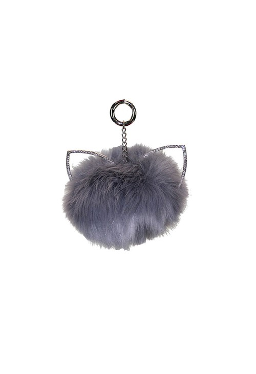 Something Special Grey Pom Pom Keychain
