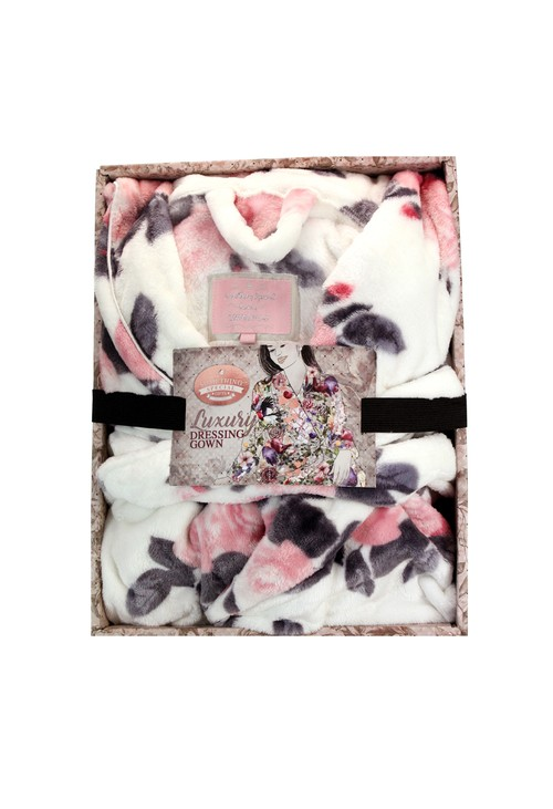 Something Special Pink Floral Dressing Gown
