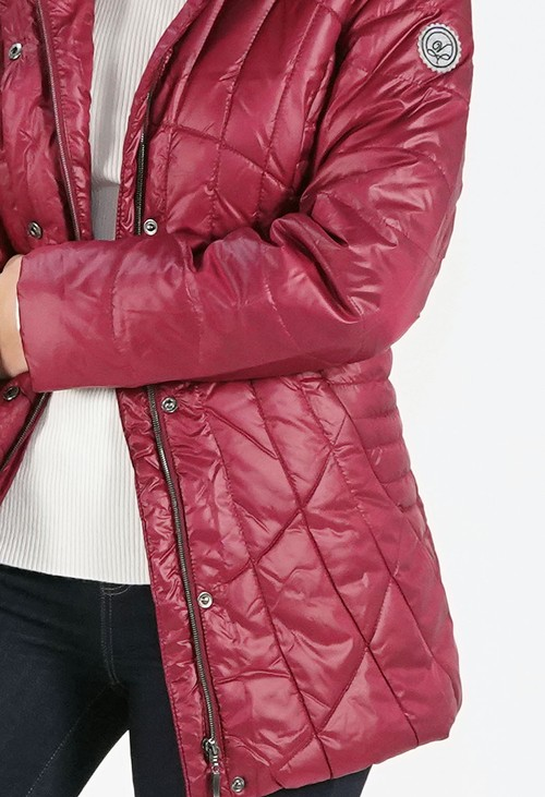 Pamela Scott Wine Quilted Jacket