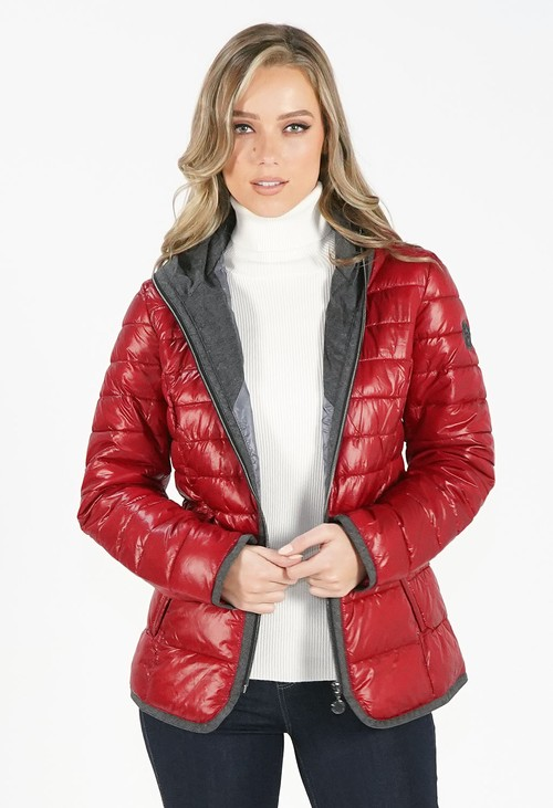 Pamela Scott Red Padded Jacket with Hood