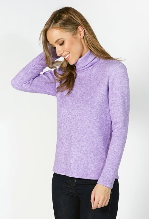 Sophie B Lilac Roll Neck Knit