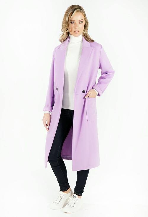 Sophie B Lilac Longline Coat