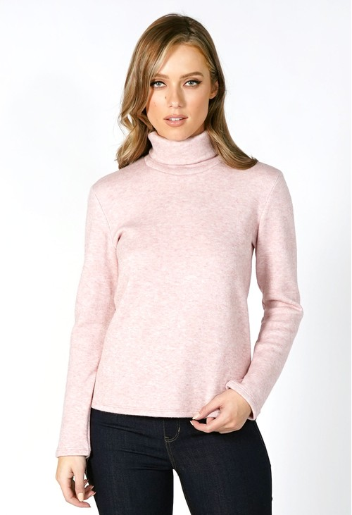 Sophie B Soft Rose Roll Neck Knit