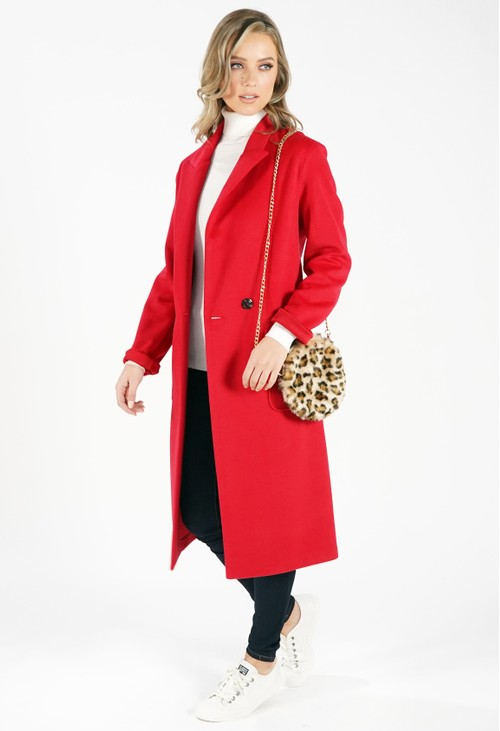 Sophie B Red Longline Coat