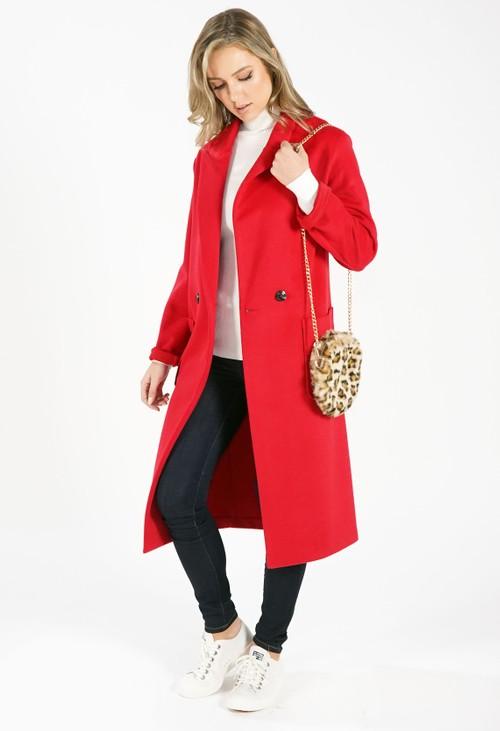 Sophie B Red Longline Coat