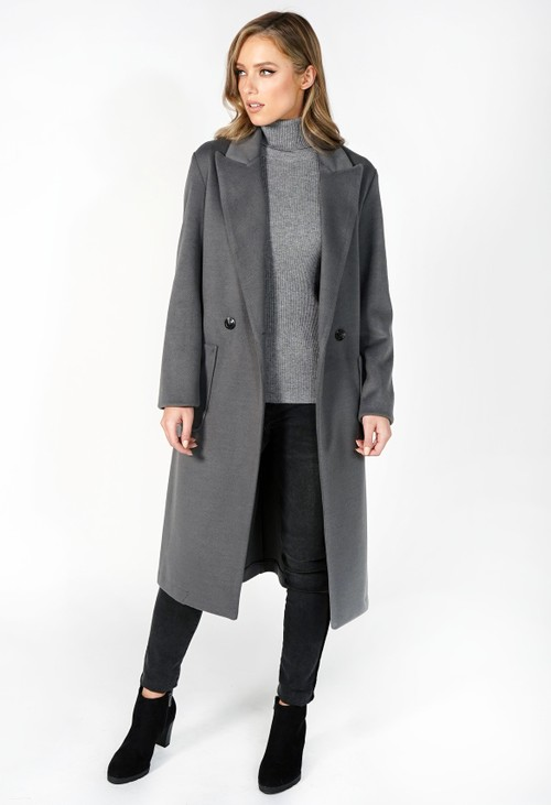 Sophie B Grey Longline Coat
