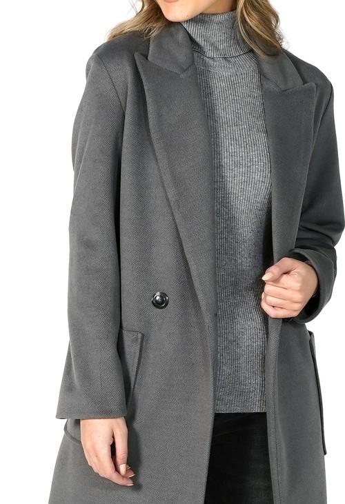 Sophie B Grey Longline Coat