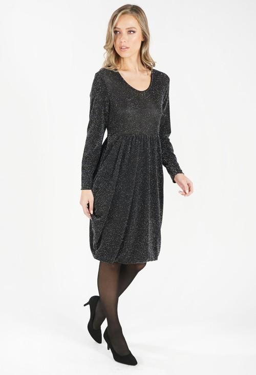 Pamela Scott Black Round Neck Sparkly Dress