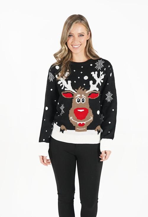 Pamela Scott Black Christmas Jumper