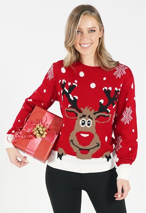Pamela Scott Red Christmas Jumper