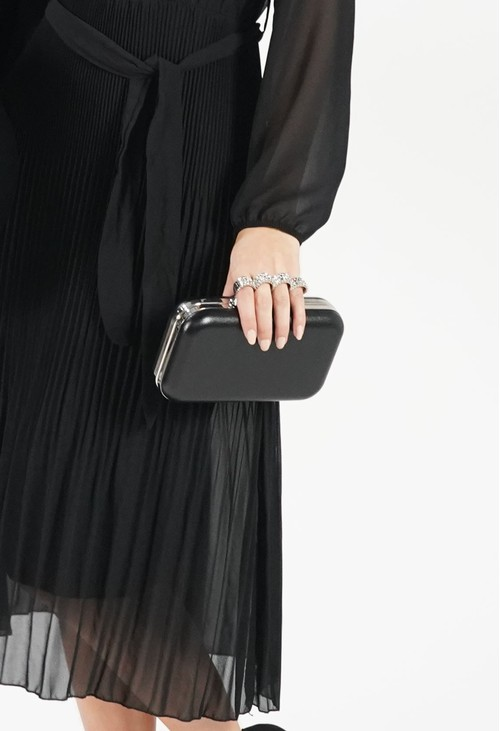 Pamela Scott Black 4 Ring Clutch