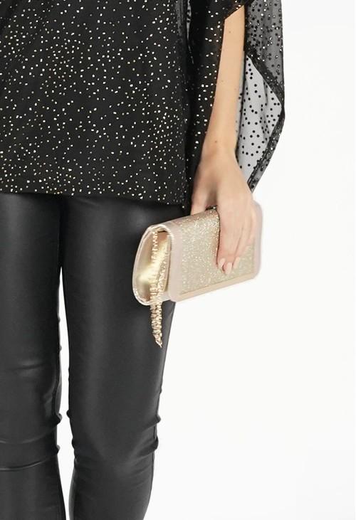 Pamela Scott Metallic Gold Clutch Bag