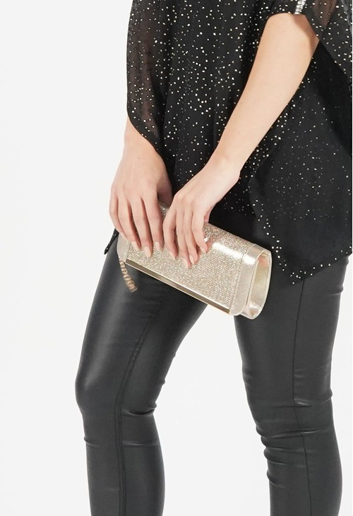 Pamela Scott Metallic Gold Clutch Bag