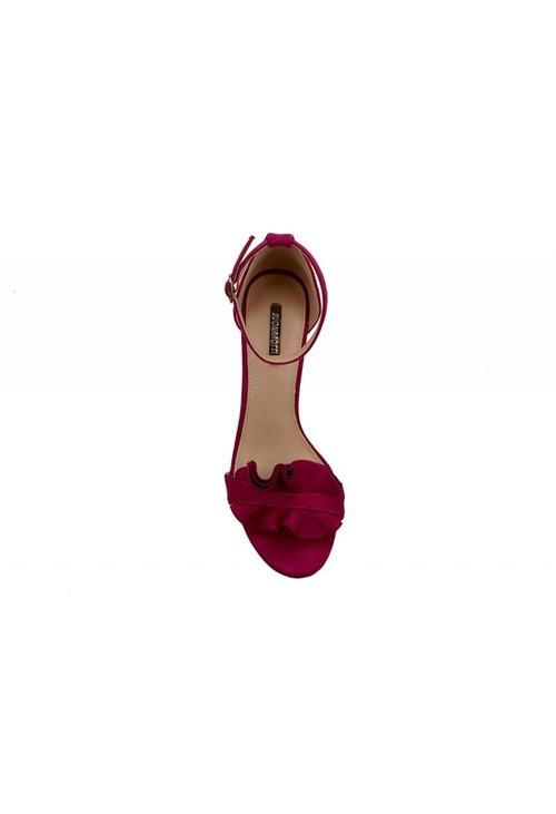 Pamela Scott Fuschia Frill Detail Heels