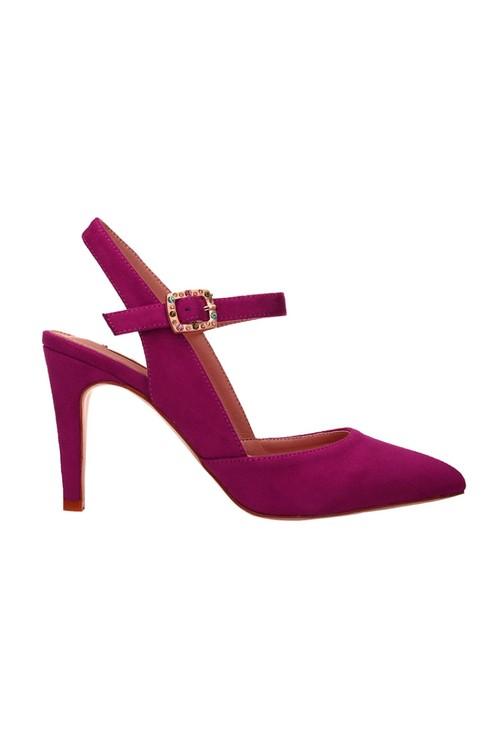 Pamela Scott Fuschia Jewel Clasp Detail Heels