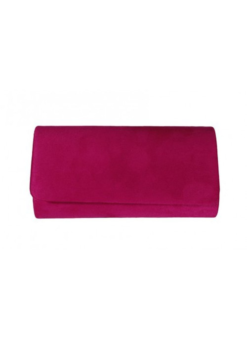 Pamela Scott Fuschia Faux Suede Clutch