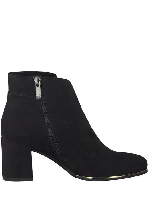 Marco Tozzi Black Microfibre Elegant Ankle Boot