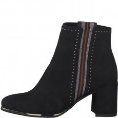 Marco Tozzi Side Stripe Heeled Ankle Boot