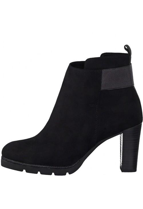 Marco Tozzi Black Heeled Boot