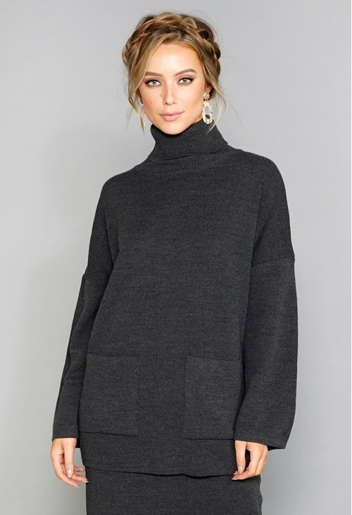 Sophie B Charcoal Jumper and Skirt Co-Ord