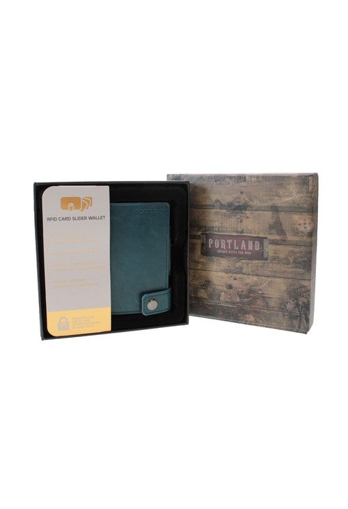 Something Special Teal RFID Protected Card Slider Wallet