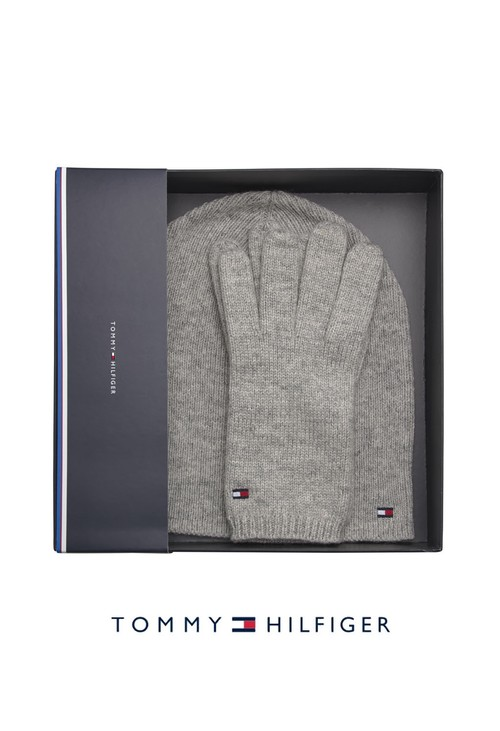 Tommy Hilfiger Knit Beanie and Gloves