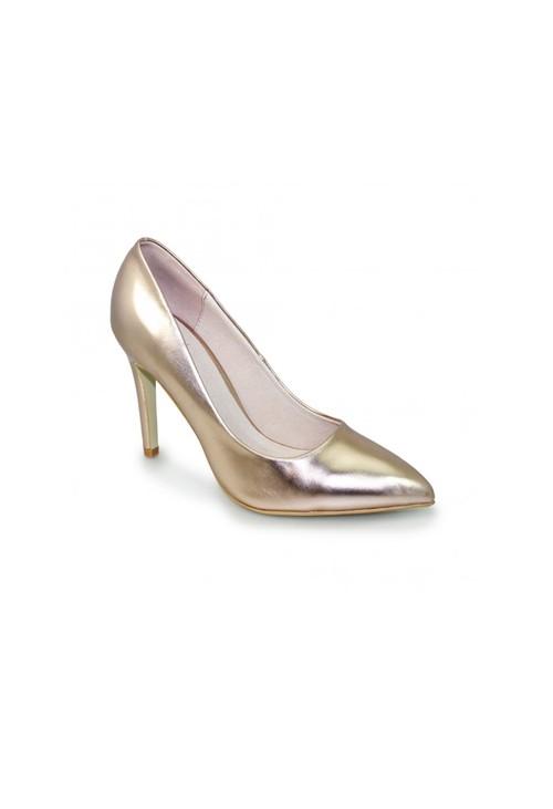 Lunar Gold Metallic Court Shoes